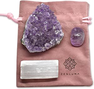 Zenluma Raw Natural Amethyst Crystal Cluster (1.5