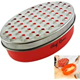 Latest Cheese Grater - Lifetime Replacement Warranty - Best Food Grater for Hard & Soft Cheeses, Ginger, Vegetables. Zest Your Lemon, Orange, Nuts and Chocolate When Baking. Fine/Coarse Grates Inc.