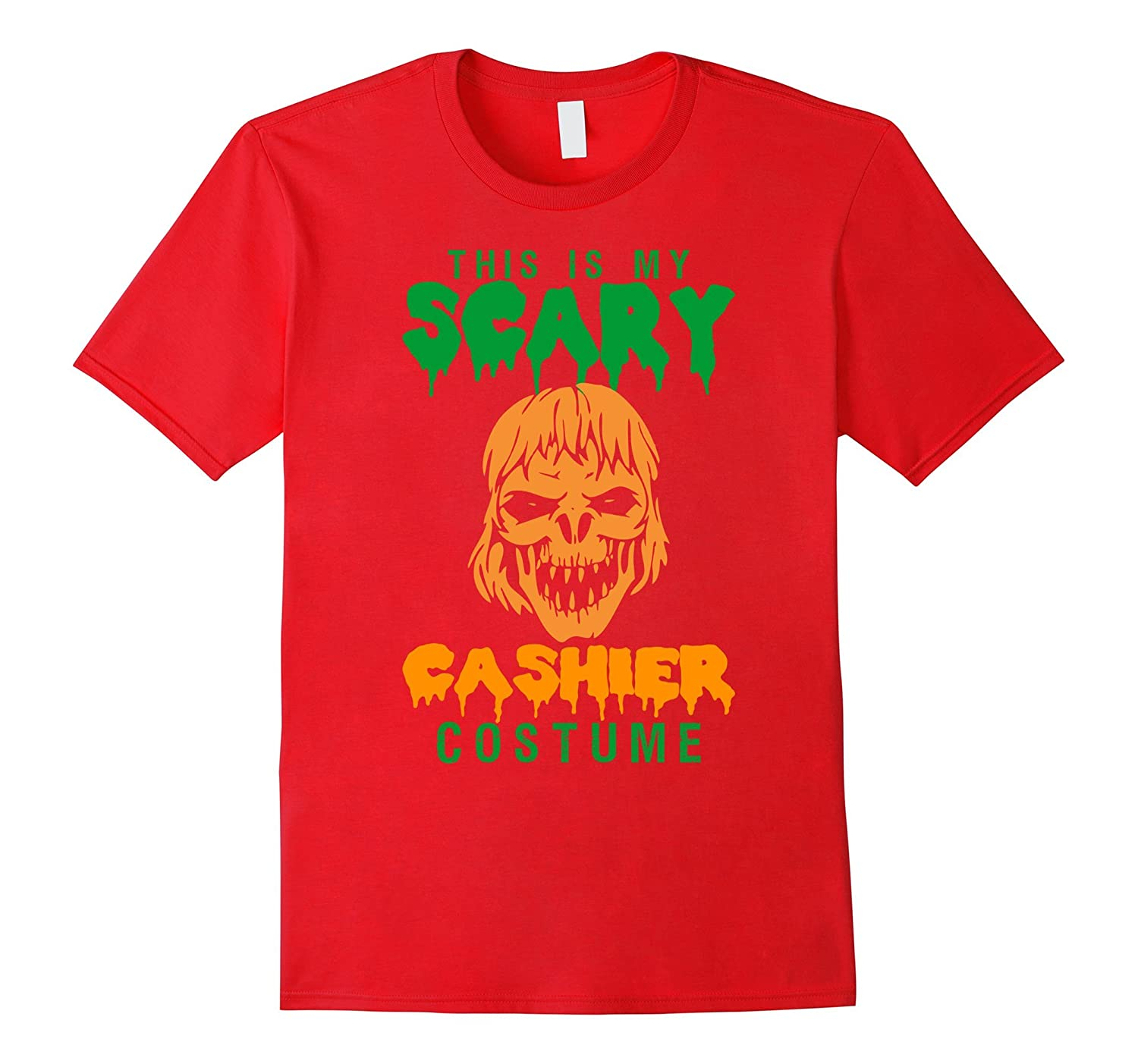 This Is My Scary Cashier Costume Halloween T-Shirt-TD