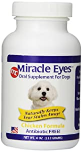 Miracle Care Tear Stain Reducer Oral Supplement for Dogs and Cats