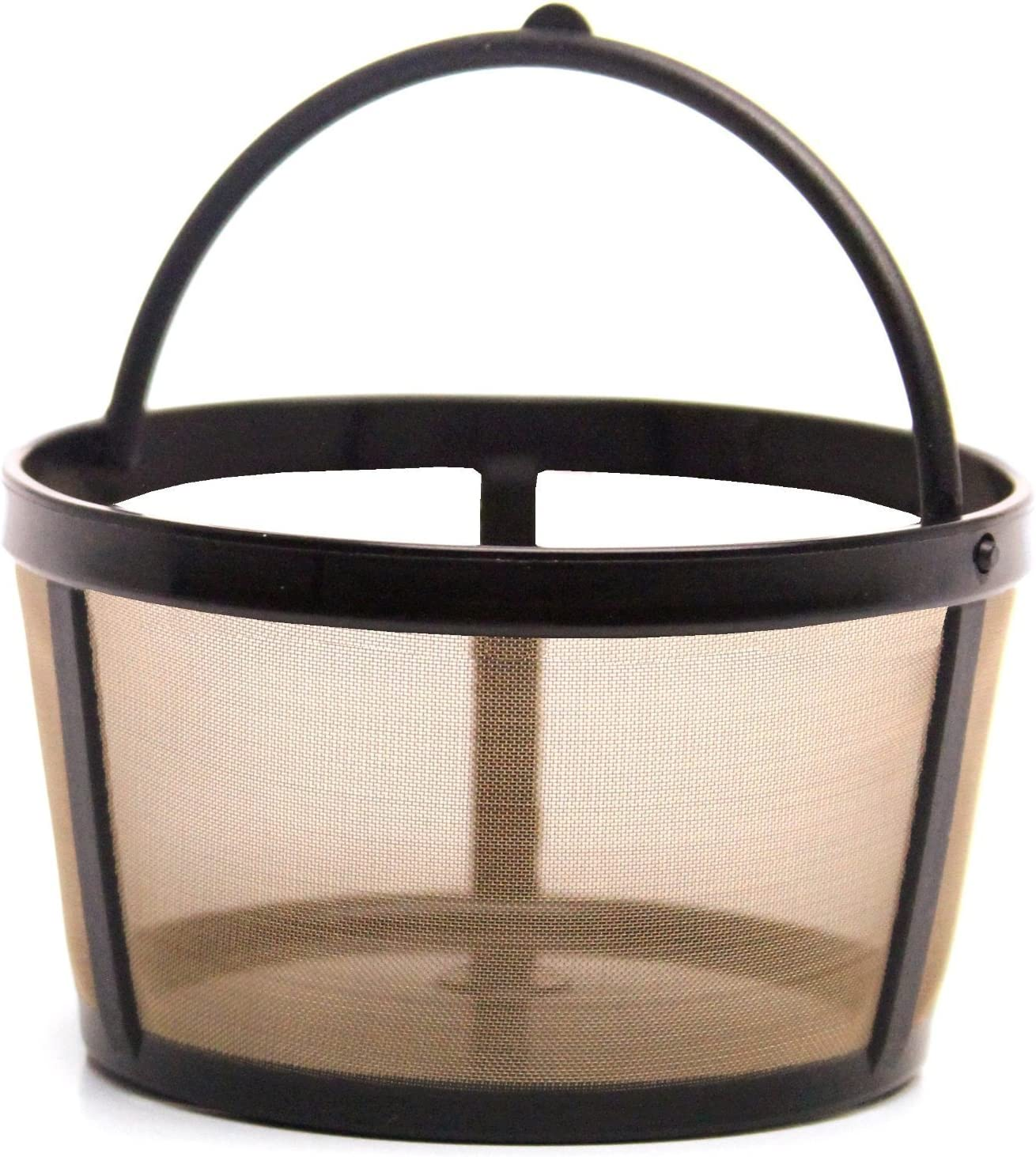 Gold Tone Products FBA-LG04 THE ORIGINAL GOLDTONE BRAND Reusable Basket-style 4-8 Cup Coffee Filter with Handle