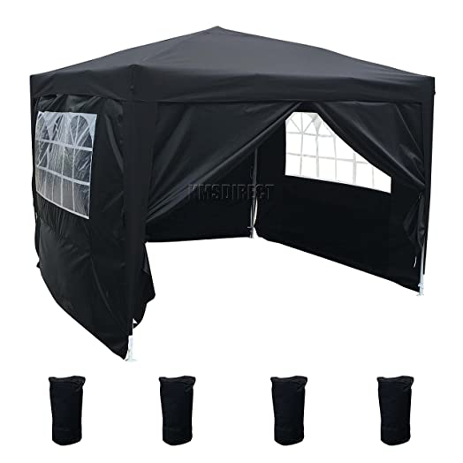FoxHunter Waterproof 3m X Pop Up Gazebo Marquee Garden Awning Party Tent Canopy 260g Polyester