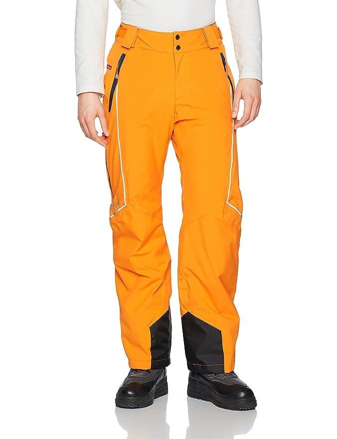 Pantalones para la nieve hombre naranja fosforito ropa neón