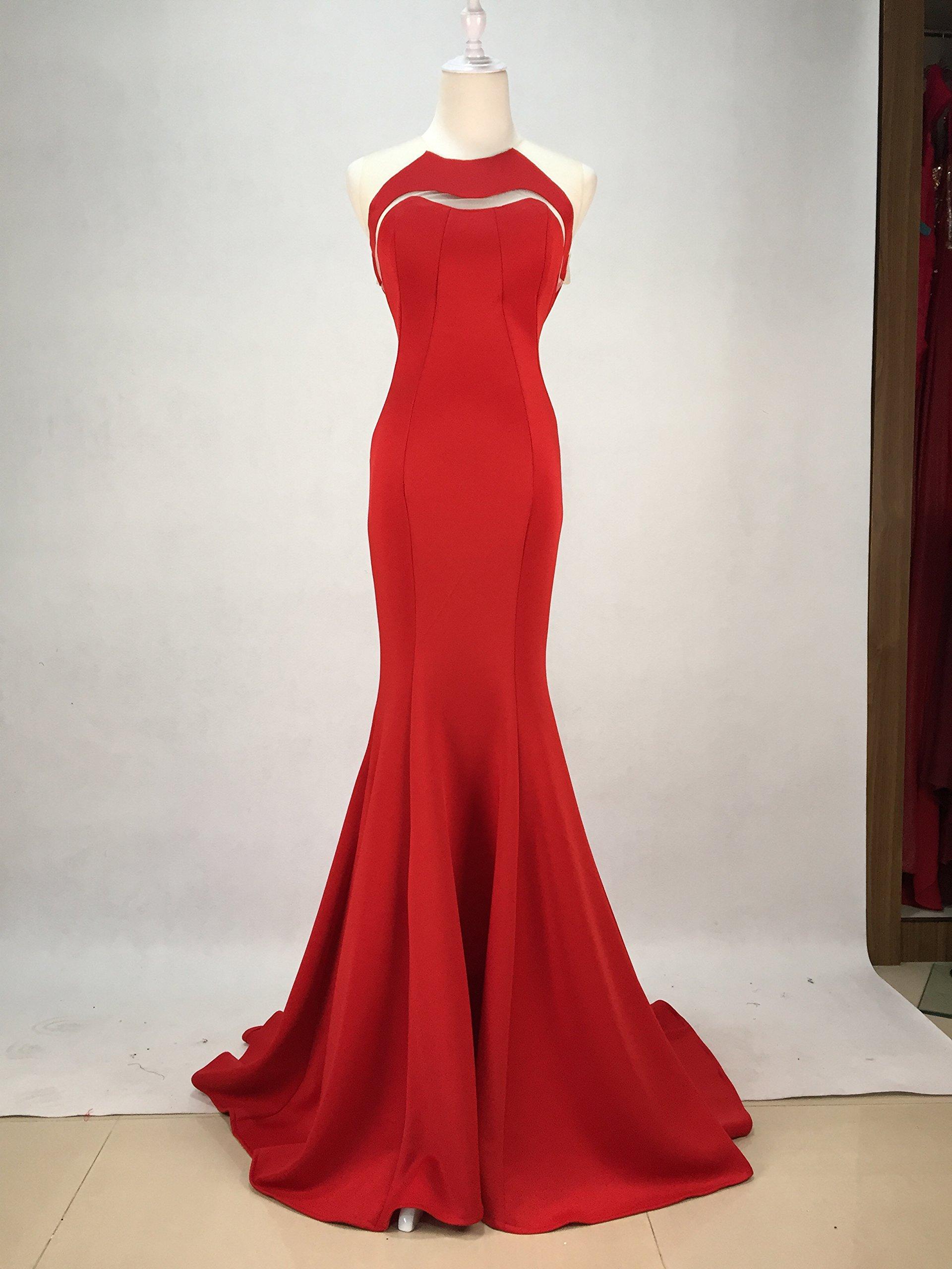 Gypsophila Women Fishtail Evening Dress Prom Gown 2016 (4, Red) by Gypsophila