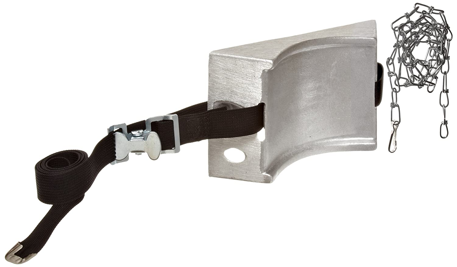 Talboys 717 Aluminum Cylinder Wall Bracket with Strap and Chain 1.875 Length x 8.125 Width x 4.625 Height