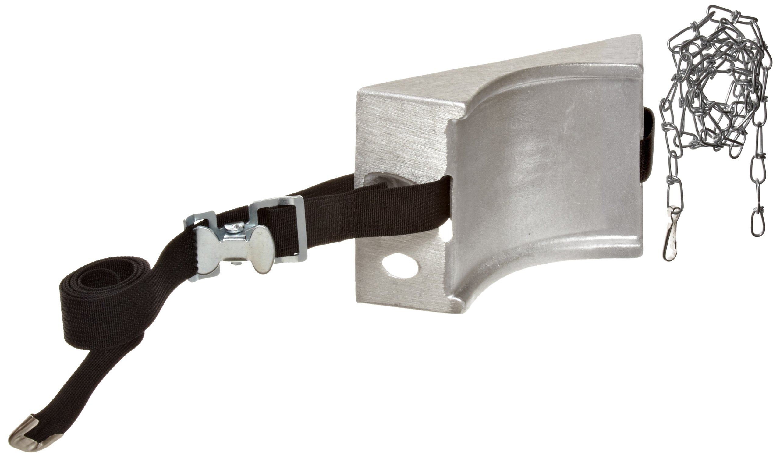 Talboys 717 Aluminum Cylinder Wall Bracket with Strap and Chain, 1.875'' Length x 8.125'' Width x 4.625'' Height
