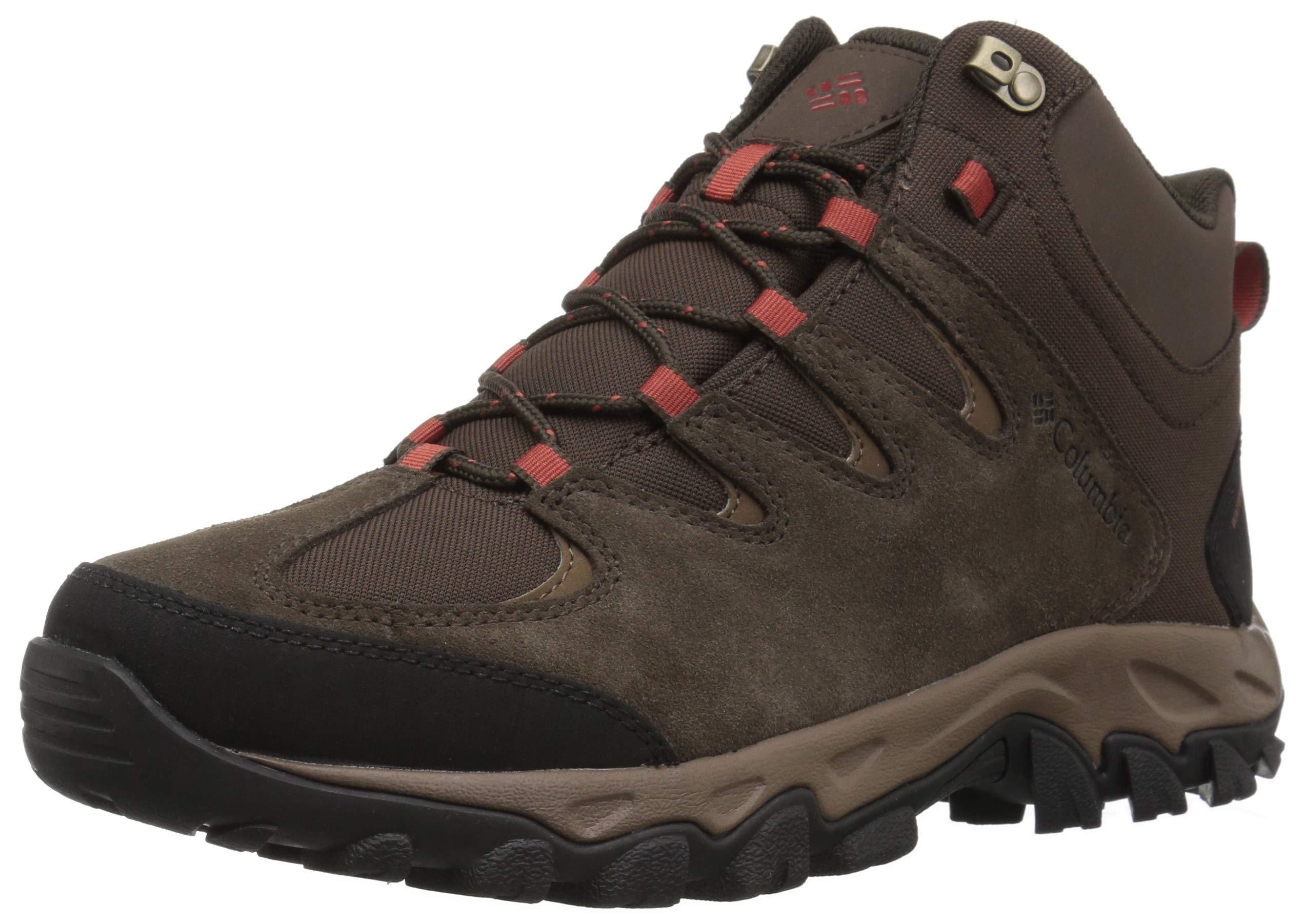 Columbia Men's Buxton Peak Mid Waterproof Hiking Boot, Cordovan, Rusty, 12 Wide US