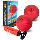 Mini Basketballs for Indoor Arcade Basketball Hoop - Includes 2 x 7 inch Basketballs and Hand Pump with Inflation Needles