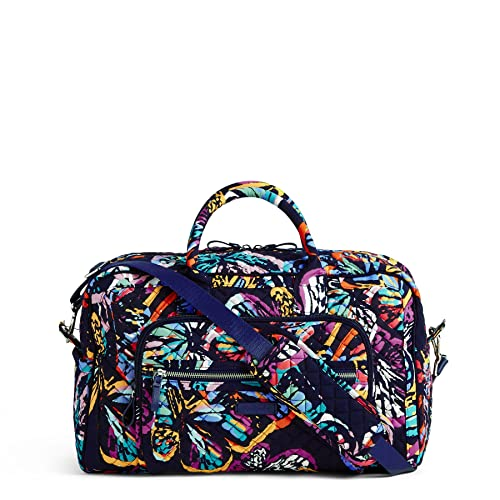 Vera Bradley Iconic Compact Weekender Travel Bag, Signature Cotton,  Butterfly Flutter  Amazon.co.uk  Clothing 8c25b59614