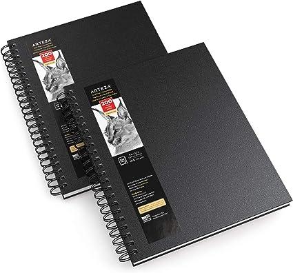 """Arteza Cuadernos de dibujo, 9x12"""" (22,9 x 30,5 cm), pack de 2 blocs, total"""