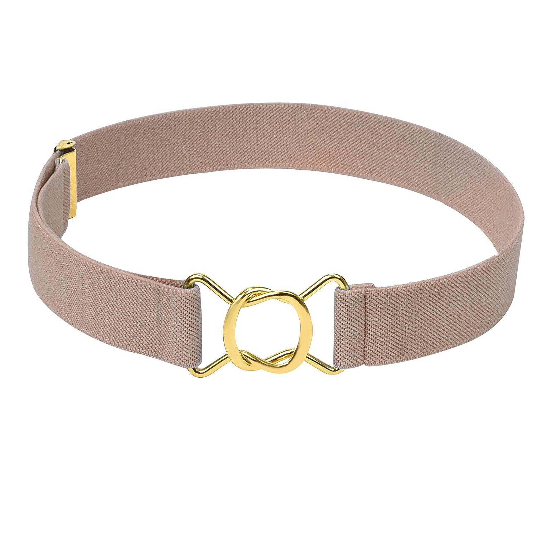 Hold' Em Kids Toddler Clasp Gold Buckle Belt– Elastic Adjustable Stretch Boys Belt Hold' Em