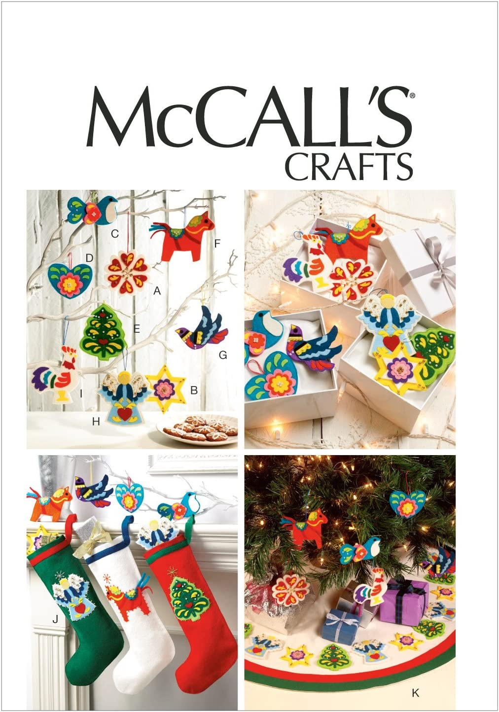 McCall Patterns M6674 Christmas Decorations Sewing Template