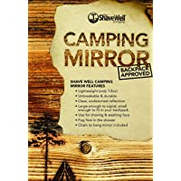 SHAVE WELL UNBREAKABLE CAMPING MIRROR - Backpack approved. For saftey, signalling and comfort while in the great outdoors.
