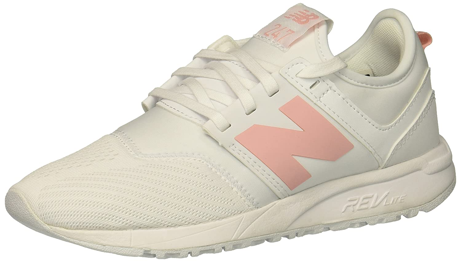 New Balance Women's 247v1 Sneaker B0784QC2V8 9.5 D US|White/Pink