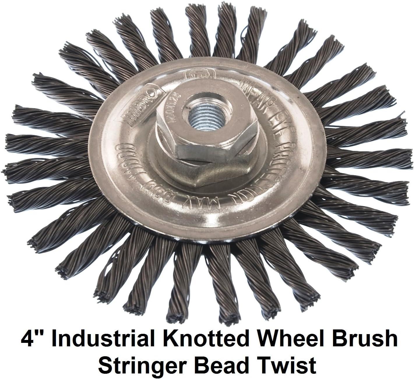 """2 Mibro 5/"""" Wire Wheel Brush Coarse 1//2-Inch Through 5//8-Inch Arbor"""