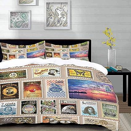 Parure De Lit Adulte Housse De Couette World Vintage Stamps Collecter Collectibles Memoribilias Home Mode Voyageur Moderne Touriste C 1 Housse De Couette 220 X 240 Cm 2 Taies D Oreillers 63 X 63 Cm