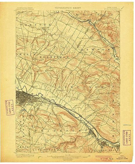 Amazon Com Yellowmaps Utica Ny Topo Map 1 62500 Scale 15 X 15