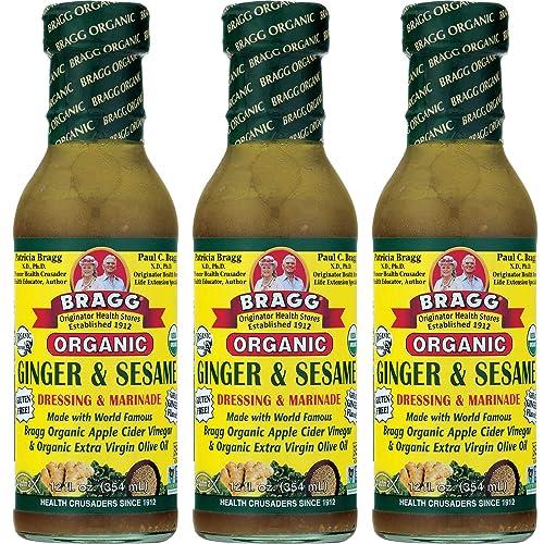 Bragg's Ginger & Sesame Salad Dressing 12 OZ (Pack of 3)