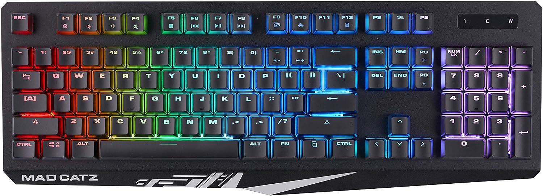 Mad Catz STRIKE 2 membranas RGB teclado para juegos - KS13MRUKBL000-0