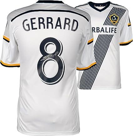 06e46d08692 Image Unavailable. Image not available for. Color  Steven Gerrard LA Galaxy  Autographed Home Jersey ...