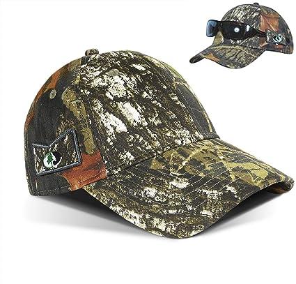 4658a3ad Amazon.com : Tirrinia Men's Break UP Camo Hunting Cap with Non-Slip ...