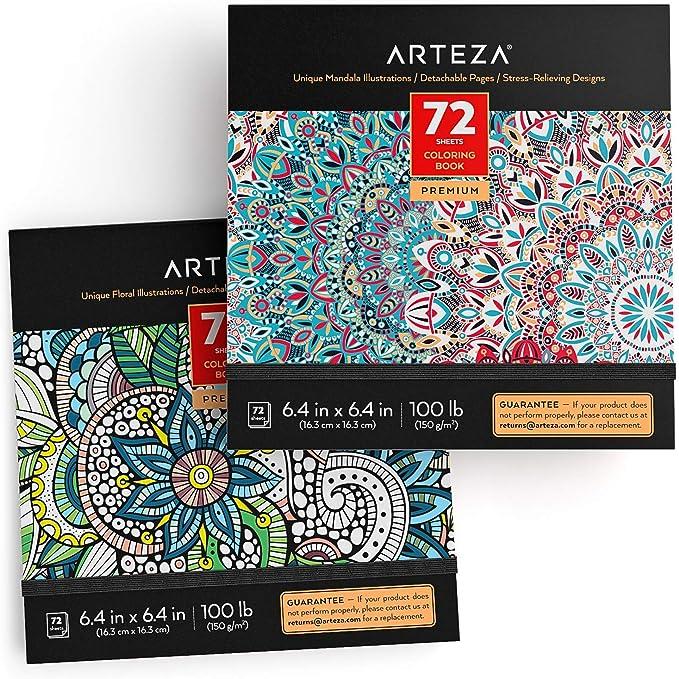 ARTEZA Libros de Colorear para Adultos con diseños