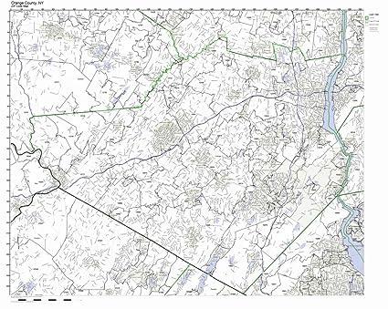 Zip Code Map Of Orange County.Amazon Com Orange County New York Ny Zip Code Map Not Laminated