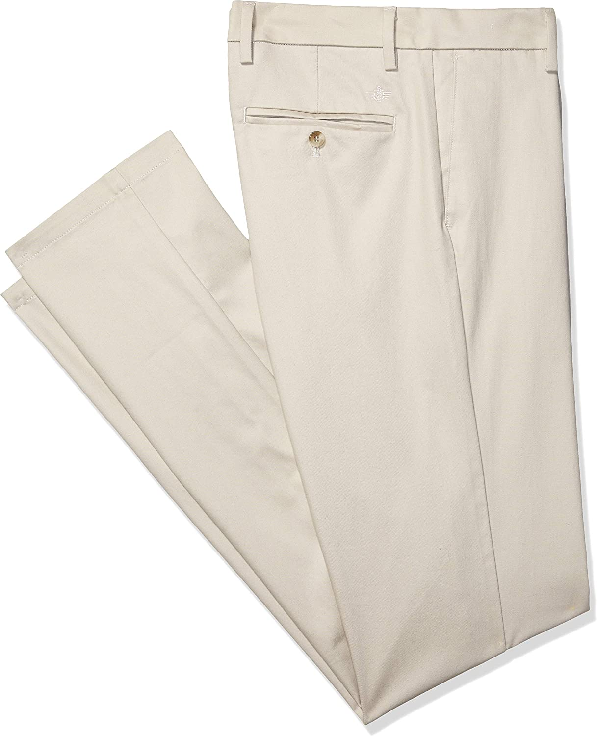 dockers Mens Big and Tall Classic Fit Signature Khaki Lux Cotton Stretch Pleated Pants