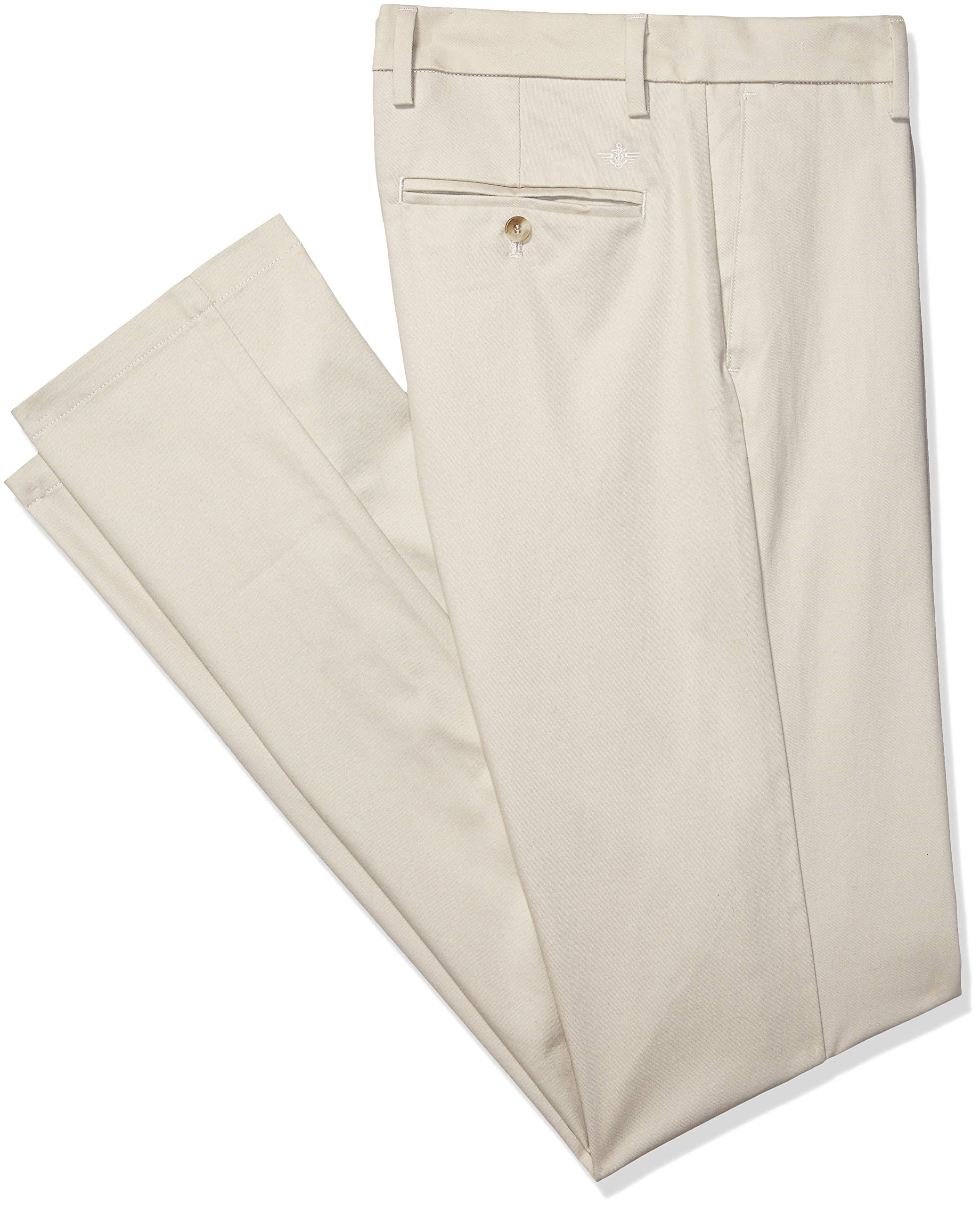 Dockers Men's Big and Tall Modern Tapered Fit Signature Khaki Lux Cotton Stretch Pants , Cloud, 48 30