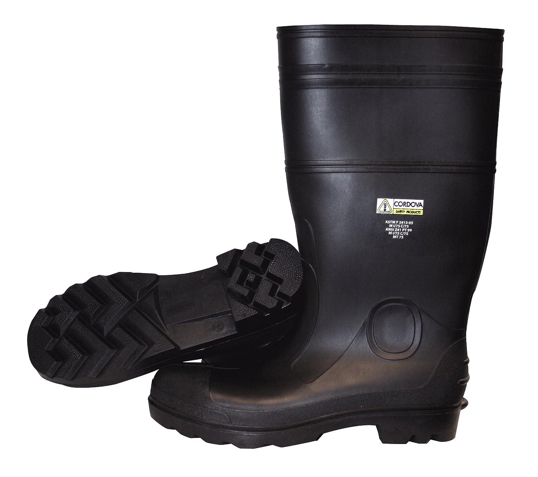 13 Majestic Glove 8202//13 Rubber Boot Black 13 Majestic Gloves Steel Toe Knee