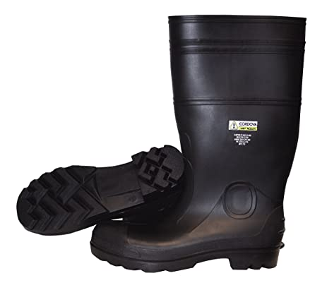 PB2310 Unlined PVC Boots with Black PVC Soles Size 10 Black