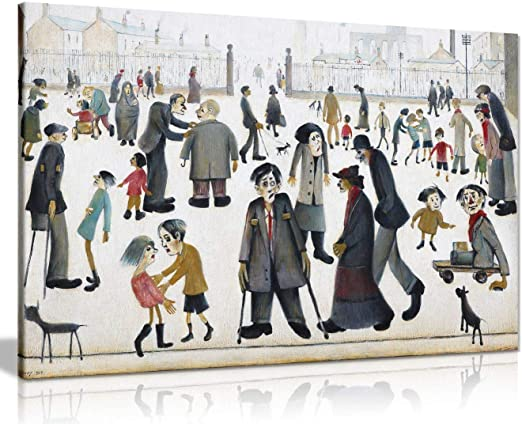 L.S Lowry Collection Painting Canvas Print Wall Art Picture Home Decor