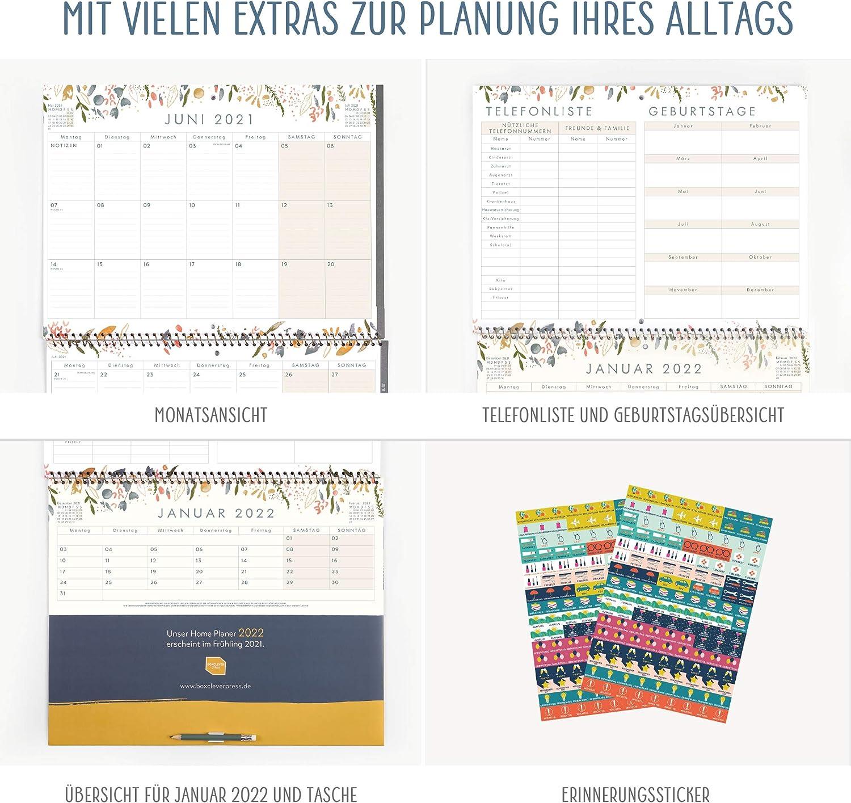 Monatsreitern. /'21 NEU! 16-monatiger Wandkalender 2020 2021 von Sept /'20-Dez Boxclever Press Home Planer Kalender 2020 2021 Wandkalender mit Monatsansicht
