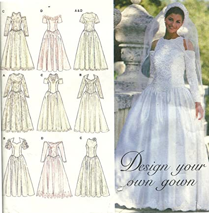 Amazon Com Simplicity Sewing Pattern 8888 Design Your Own Gown