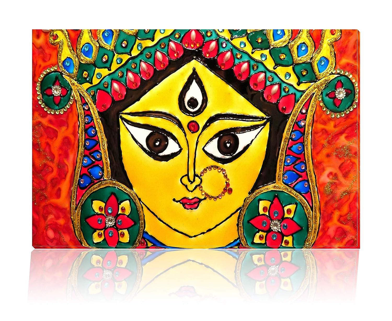 Tamatina Canvas Paintings Maa Durga Goddess Durga Paintings God Paintings Modern Art Paintings Paintings For Drawing Room Paintings For