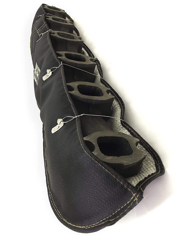 MADE IN USA BLACK TURBO MANIFOLD BLANKET FOR 1989-1998 DODGE RAM 2500 3500 5.9 COMMON RAIL CUMMINS DIESEL Holds 2500 degrees MB8998CD-B