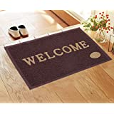 Kuber Industries PVC Anti Skid Welcome Door Mat (Brown) -CTLTC11169