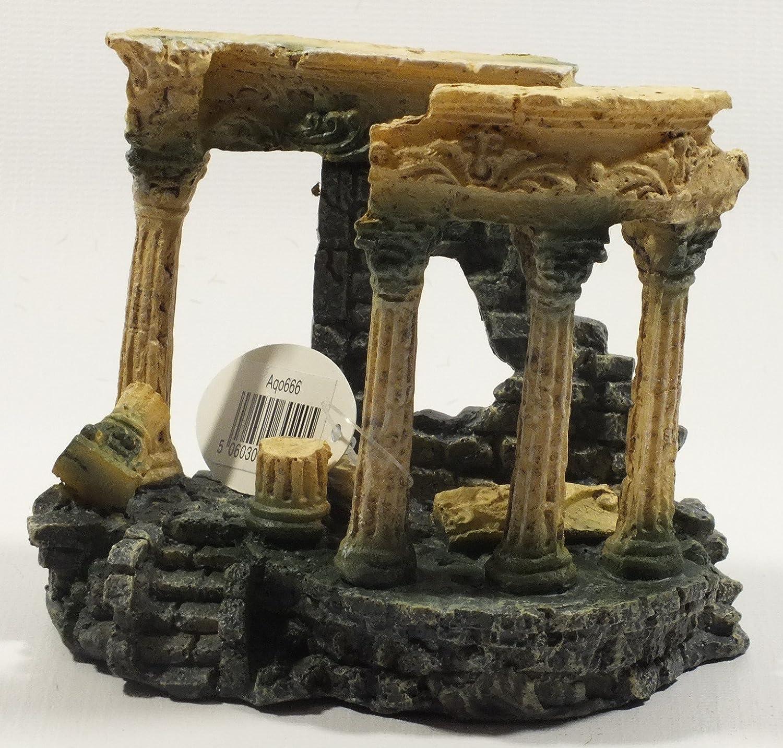 Roman Columns Ruins Aquarium Decor, Large Roman Greek Columns Ruins Aquarium Fish Tank Ornament Decoration, Sturdy Base