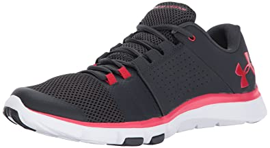 black and red under armour shoes