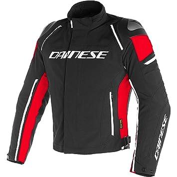 Dainese Racing 3 D-Dry - Chaqueta para Moto, 1654605, Black Black Red, 52: Amazon.es: Deportes y aire libre