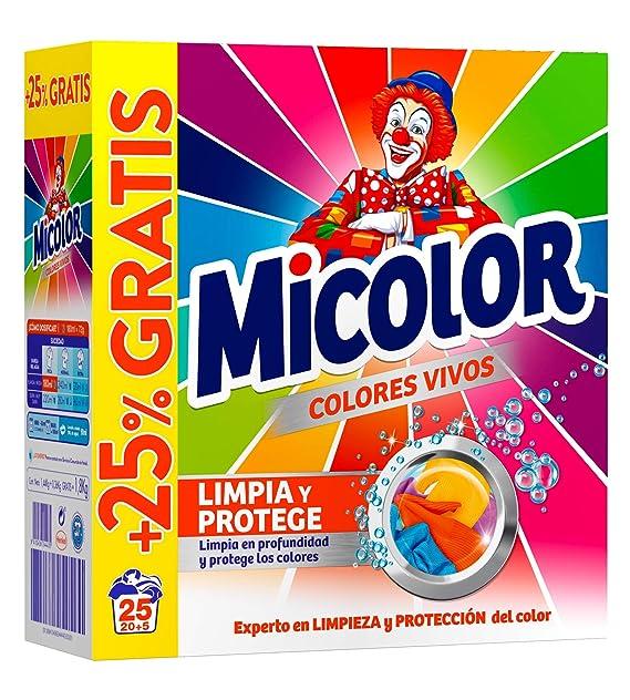 Micolor Detergente en Polvo Colores Vivos - 25 Lavados (1,8 Kg ...