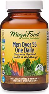 MegaFood, Men Over 55 One Daily, Supports Optimal Health and Wellbeing, Multivitamin and Mineral Dietary Supplement, Vegetarian, 60 Tablets