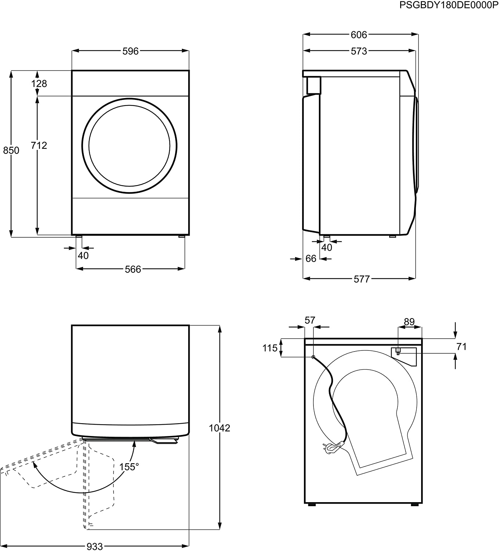 Kondens-Trockner ZDP 7202 PZ: Amazon.es: Grandes electrodomésticos
