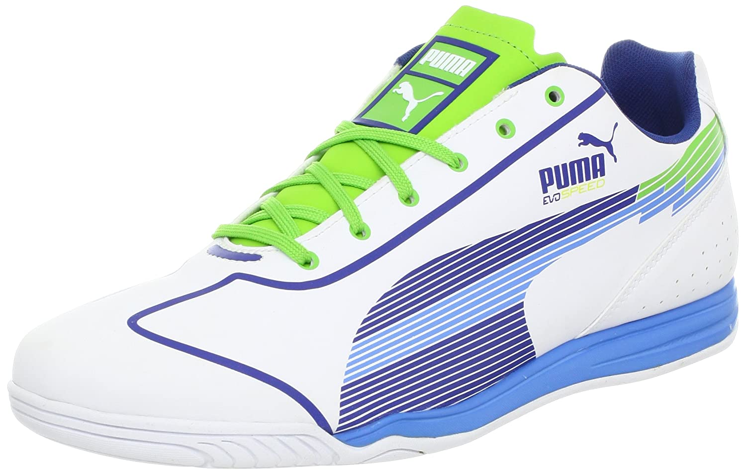 Puma evoSPEED Starサッカーシューズ B008AJOPMWWhite/Monaco Blue/Jasmine Green/Flourescent Yellow 13 D US