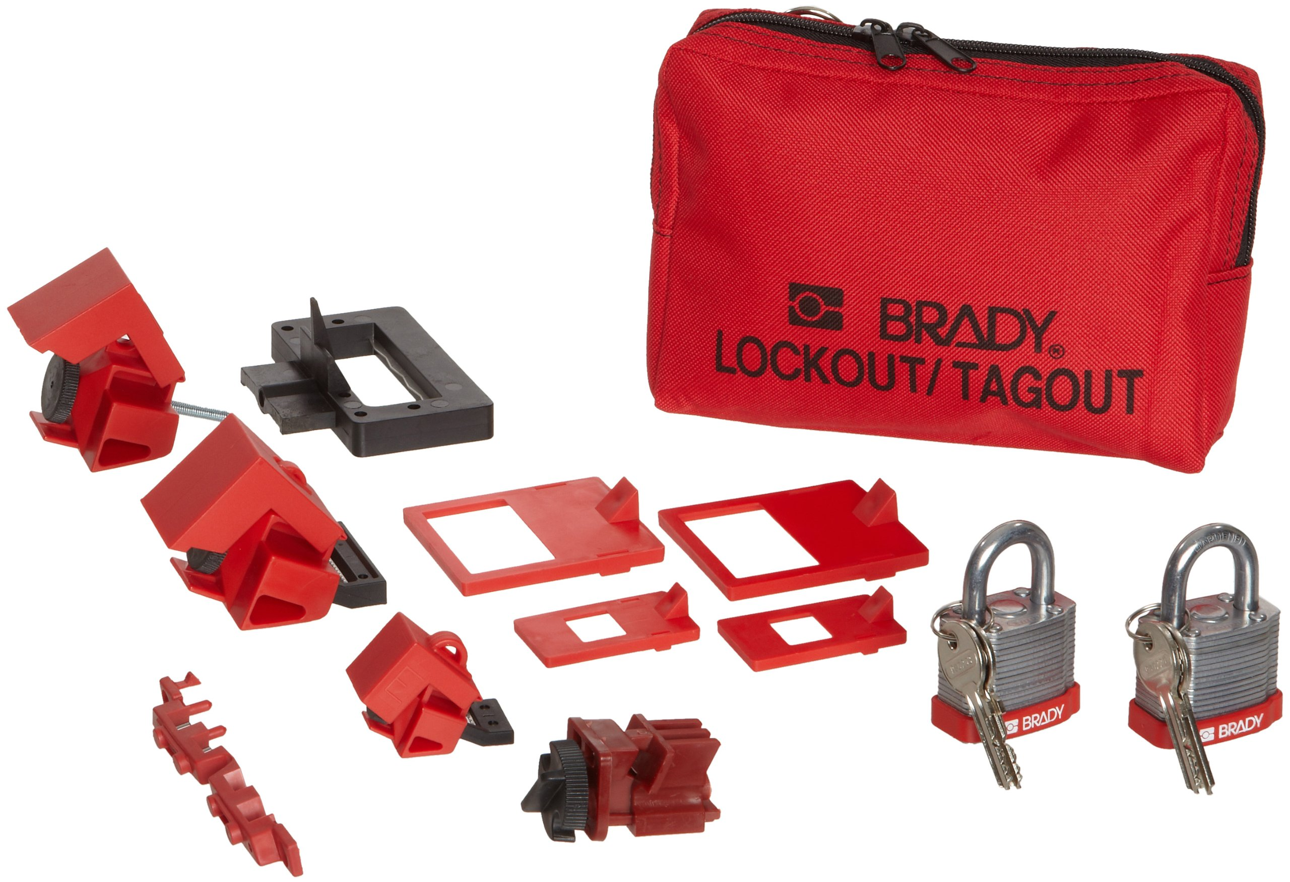 Brady Breaker Lockout Pouch Kit, Includes 2 Steel Padlocks and 2 Tags