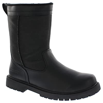 Khombu Mens Chicago Insulated Winter Boot, Black, Size - 12M | Snow Boots