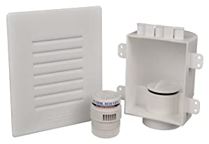 Studor 20381 Low-Profile Recess Box with Grille and Redi-Vent