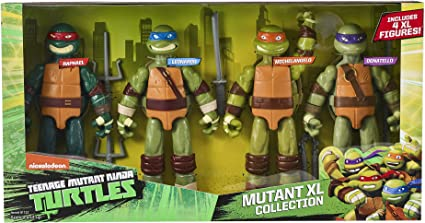 Amazon Com Teenage Mutant Ninja Turtles Tmnt Xl Figure 4 Pack