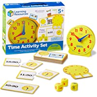 Learning Resources LER3220 Time Activity Set,Pack of 1,Multi-color