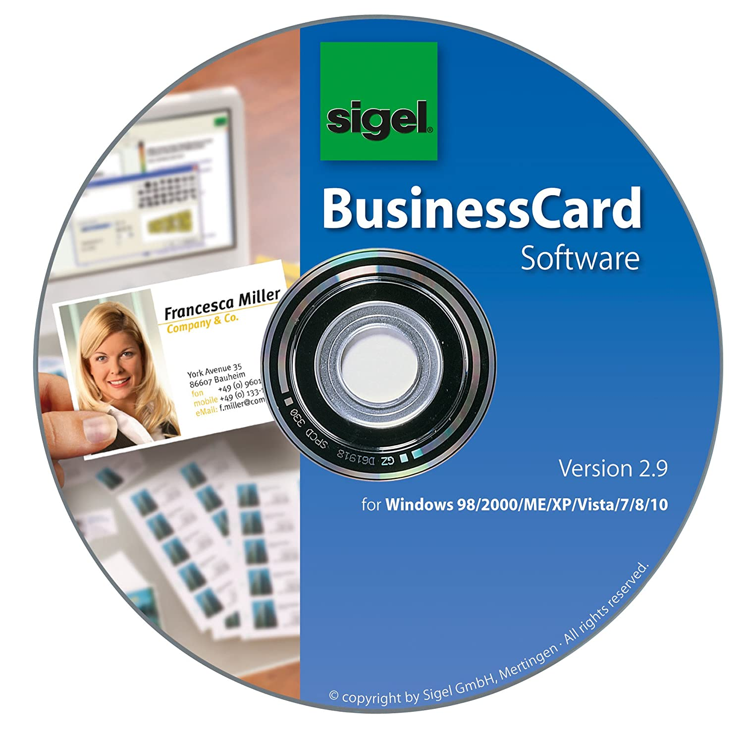 Sigel SW670 Business Card Software incl. 200 Business Cards: Amazon ...
